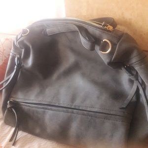 Large suede type bag from a boutique